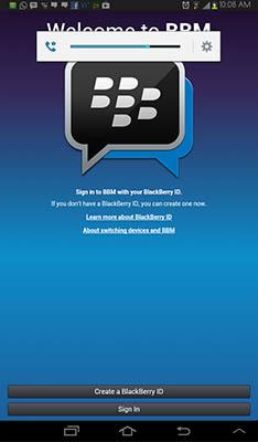 Cara Install dan Download BBM for Android di Tablet