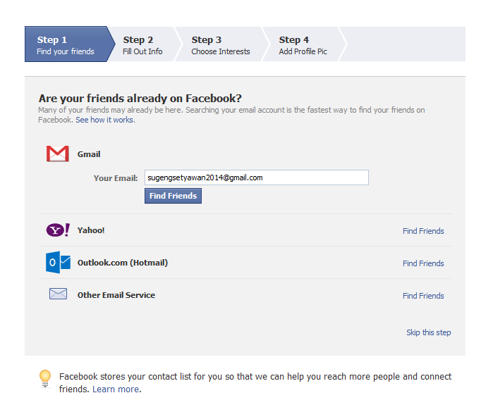 Cara Membuat Facebook3