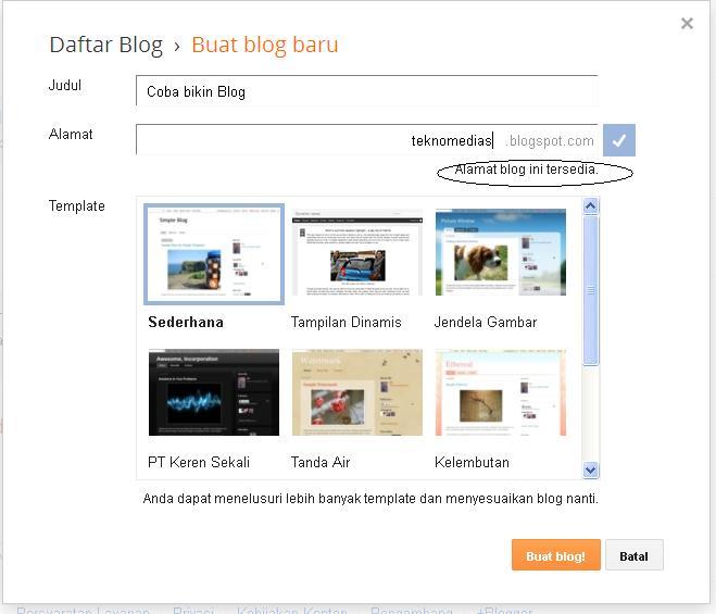 Cara membuat blog 8
