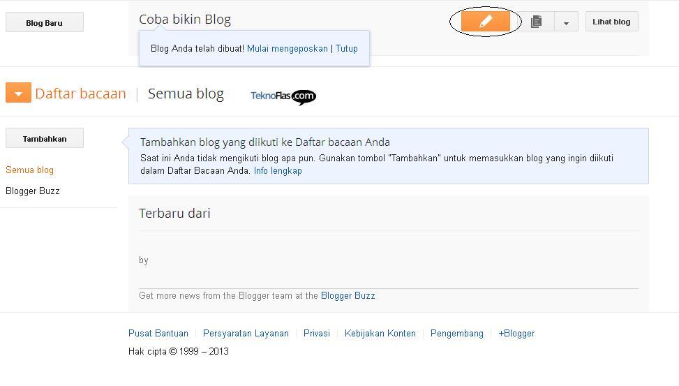 Cara membuat blog 9