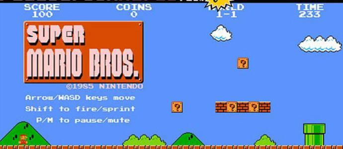Maen Game Mario Bros dengan Full Screen Mario