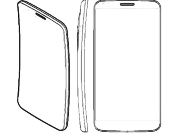 Sketsa G Flex Smartphone dengan layar lengkung dari LG