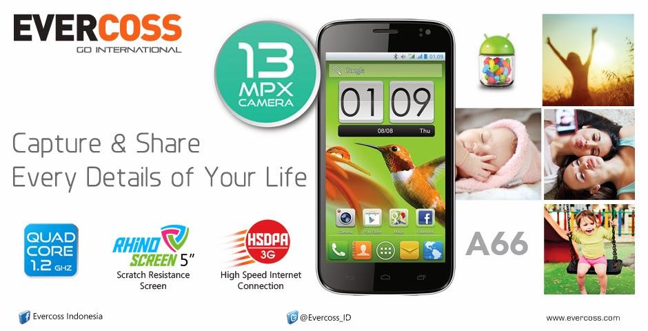 EverCoss A66 Ponsel Android Quad Core Harga 1 Jutaan