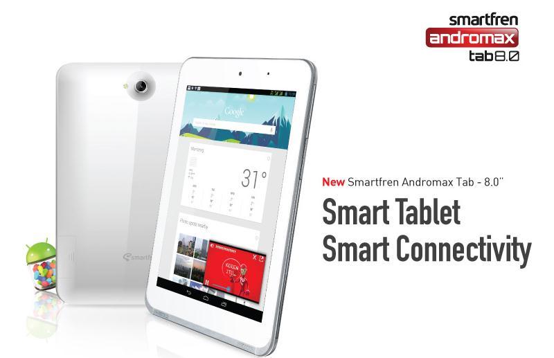 Harga Smartfren Andromax Tab 8, Tablet Dual Core Bisa Telpon dan SMS