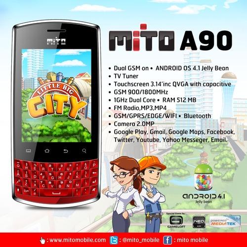 Mito A90 Android Dual Core Murah Bisa BBM