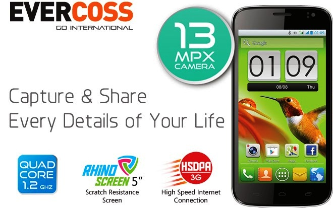 Inilah Spesifikasi EverCoss A66, Smartphone Android Harga Rp 1,9 Jutaan