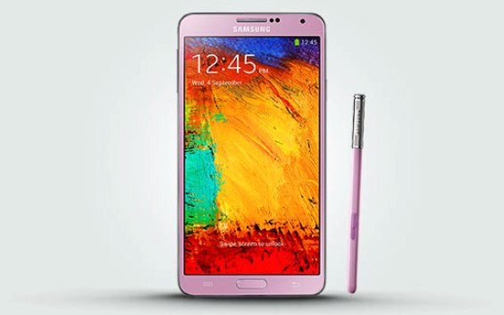 Samsung Galaxy Note 3 Warna Pink Dijual di Inggris