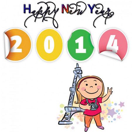 Kartu Ucapan Tahun Baru 2014