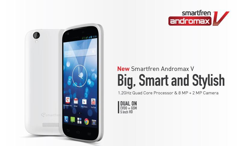 Harga Smartfren New Andromax V Januari 2014