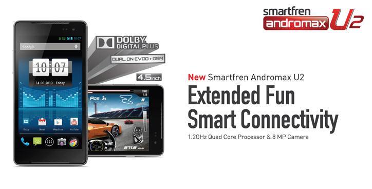 Harga Smartfren Andromax U2 Terbaru Februari 2014