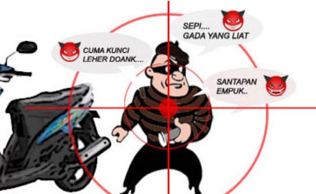Inilah Beberapa Tips Menghindari Pencurian Kendaraan Bermotor