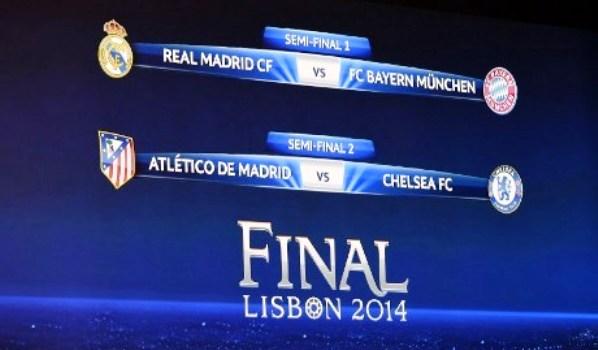 Jadwal Semifinal Liga Champion 2014 Live SCTV