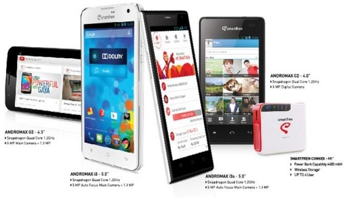 Smartfren Luncurkan 4 Smartphone Andromax Terbaru