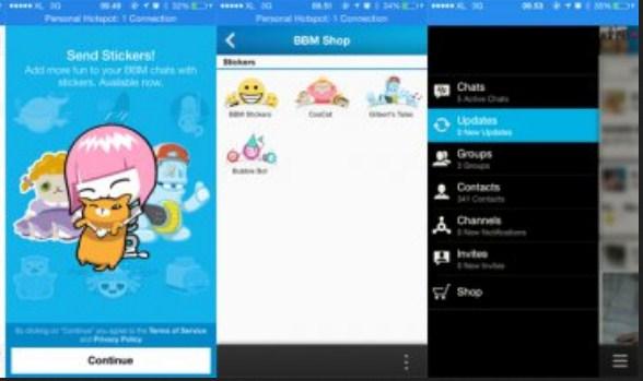 Update BBM for Android Bawa Fitur Baru Sticker Besar