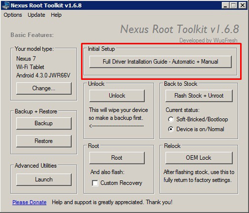 Cara Root Android 4.3 di Nexus 7 1