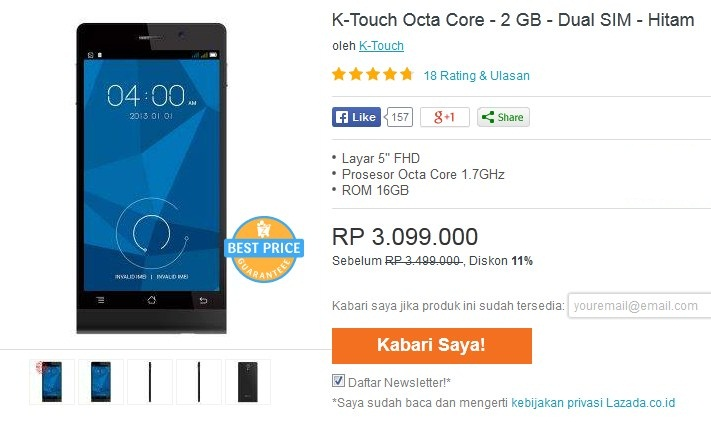 K-touch Octa Core