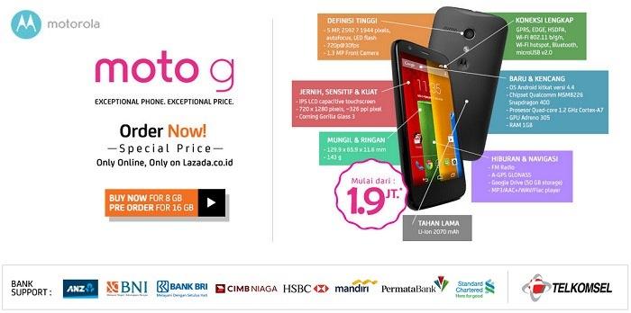 Pre order Motorola Moto G Lazada