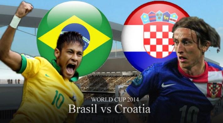 Skor Brasil Vs Kroasia Piala Dunia 2014 Tadi Malam 3-1