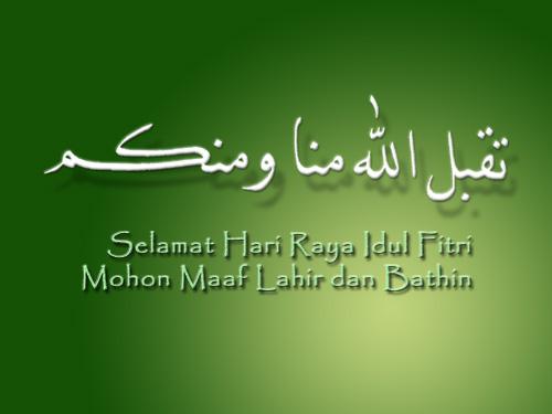 Contoh Ucapan Lebaran Idul Fitri 2014 1435 H