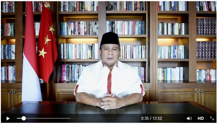 Video Pesan Prabowo 25 Juli 2014 Di FB Kritisi Jalannya Pilpres