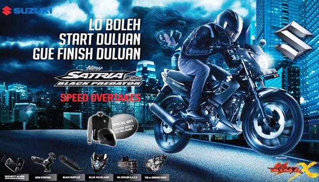 Harga Terbaru Suzuki Satria FU Black Predator Sekitar Rp 20,25 Jutaan