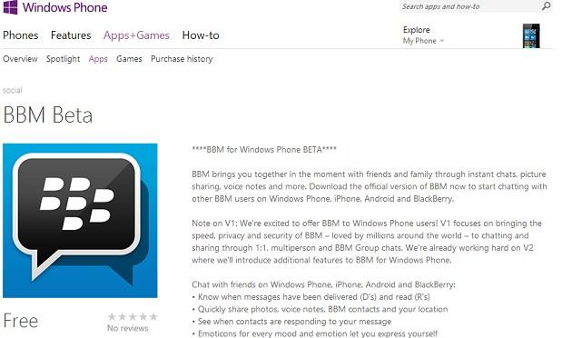 Akhirnya Aplikasi BBM Windows Phone Versi Beta Meluncur
