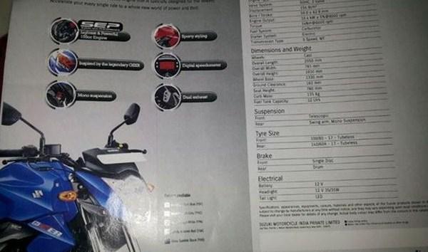 Bocoran Spesifikasi Suzuki Naked Sport 150 CC Gixxer