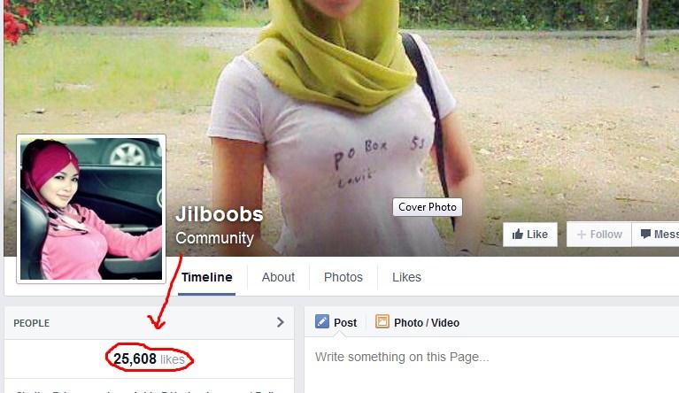 Fan Page Jilboobs Dibanjiri Like