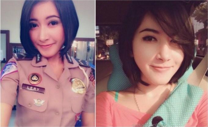 Heboh Bripda Lery Romina, Polisi Cantik Pengganti Briptu Eka