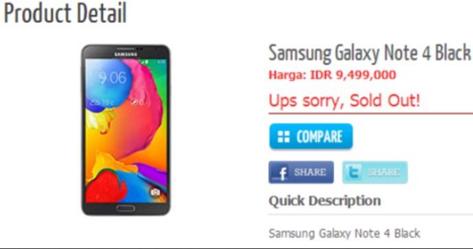 Inikah Harga Galaxy Note 4 untuk Indonesia?