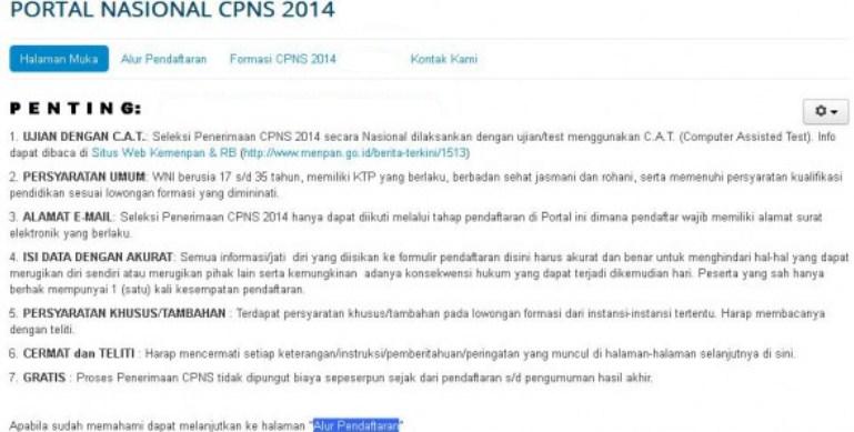 Inilah Kisi-kisi Lengkap Materi TKD CPNS 2014