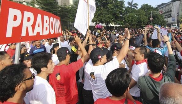 Jelang Sidang Putusan MK, Massa Prabowo-Hatta Padati Bundaran HI