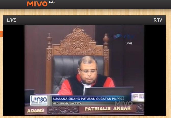 Live streaming sidang putusan MK