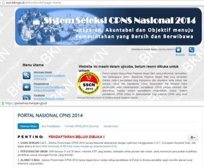 Pendaftaran CPNS Belum Dibuka