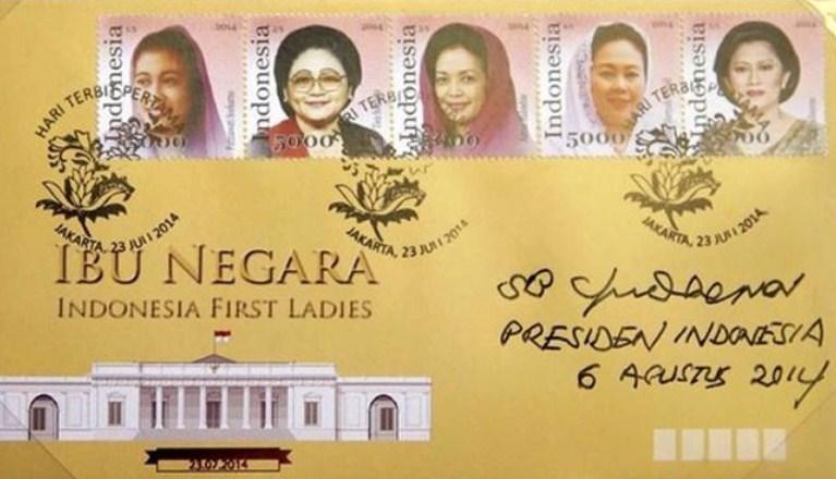 Perangko Seri Ibu Negara RI Resmi Diluncurkan Pos Indonesia