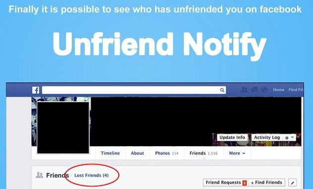 Unfriend notify for FB