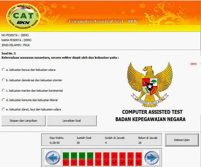 Tes Ujian CAT Wajib untuk Seleksi Penerimaan CPNS 2014