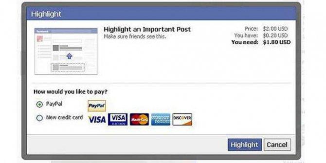 FB Mulai 1 November 2014 Facebook Berbayar