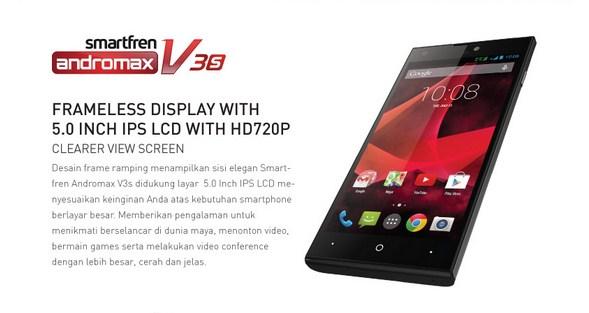 Harga Rp 1,9 Jutaan, Smartfren Andromax V3s Mulai dijual Akhir Bulan September 2014
