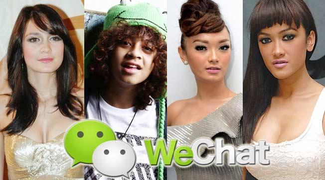 Stiker WeChat Selebriti