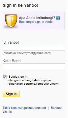 lupa password yahoo