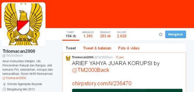 Admin Akun Twitter TrioMacan2000 Ditangkap Polisi