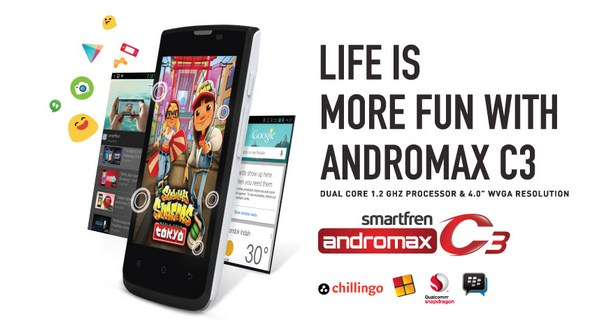 Harga Smartfren Andromax C3 Awal Bulan Oktober 2014