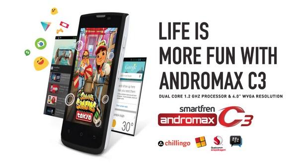 Harga Smartfren Andromax C3 Pertengahan Bulan Oktober 2014