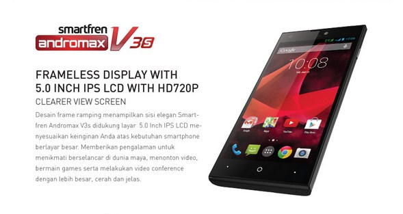 Harga Smartfren Andromax V3s Terbaru Akhir Oktober 2014