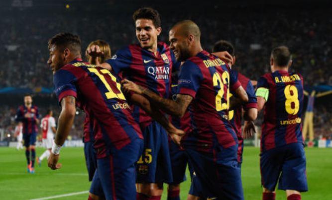 Hasil Barca vs Ajax Liga champions 22 Oktober 2014