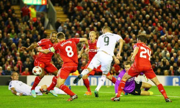 Hasil Liga Champions Liverpool vs Real madrid