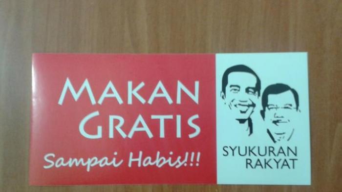 Pelantikan Jokowi Makan Gratis