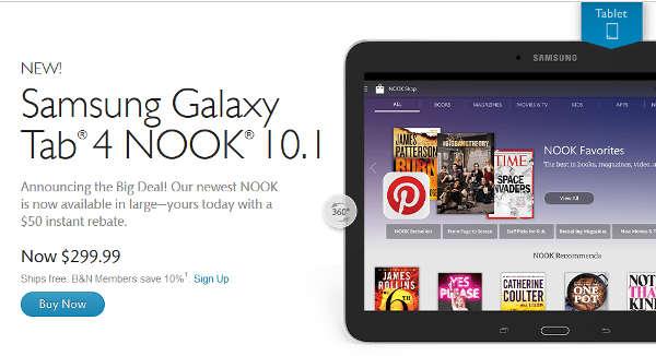 Samsung Galaxy Tab Nook 4 10.1