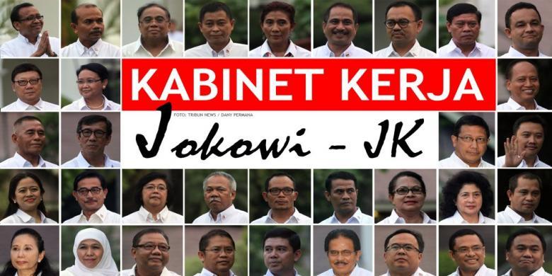 Susunan Menteri Kabinet Kerja Jokowi